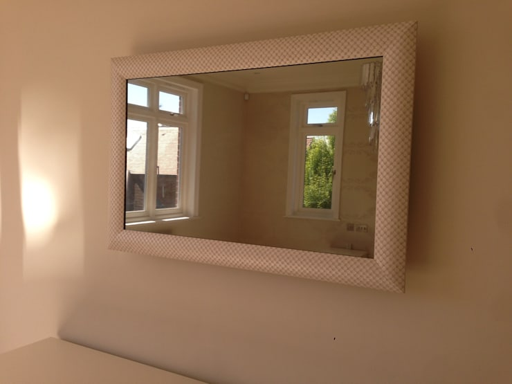 Designer Framed Mirror TV:  Bedroom by Designer Vision and Sound