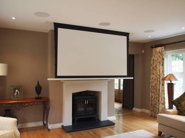 Hidden Cinema room:  Media room by Designer Vision and Sound