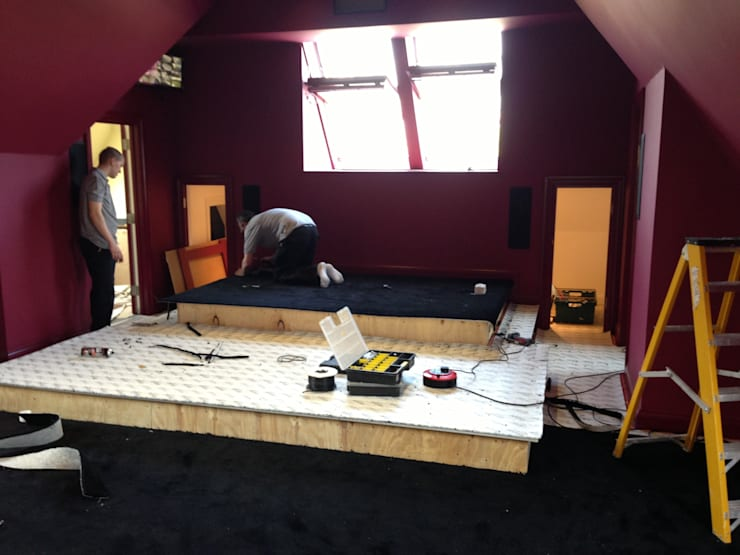 Carpet going down:   by Designer Vision and Sound