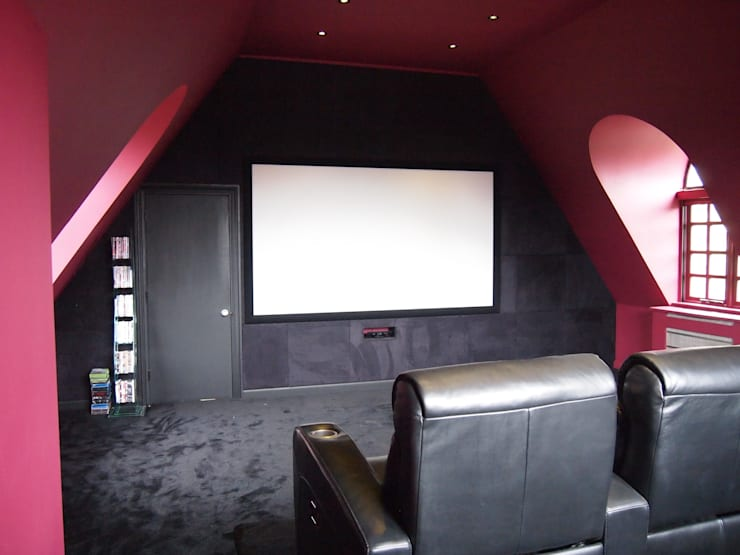 Suede fabric wall and screen in:   by Designer Vision and Sound