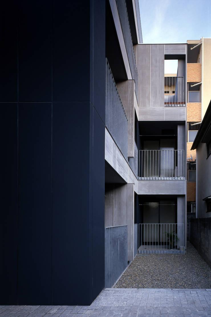南側の庭: 濱嵜良実+株式会社 浜﨑工務店一級建築士事務所が手掛けた庭です。