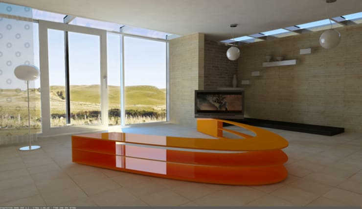 Ambientazione Panca singola: Negozi & Locali Commerciali in stile  di KK3Design
