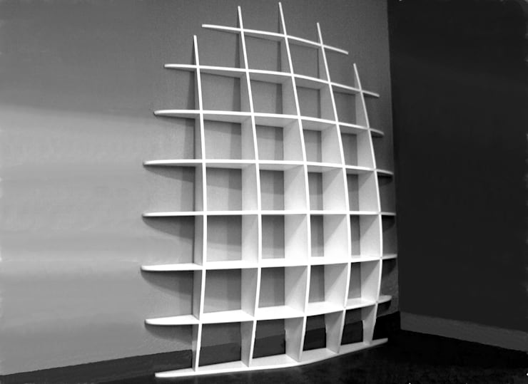 Bibliothèque Retento Haute: Salon de style  par MITHKA DESIGN