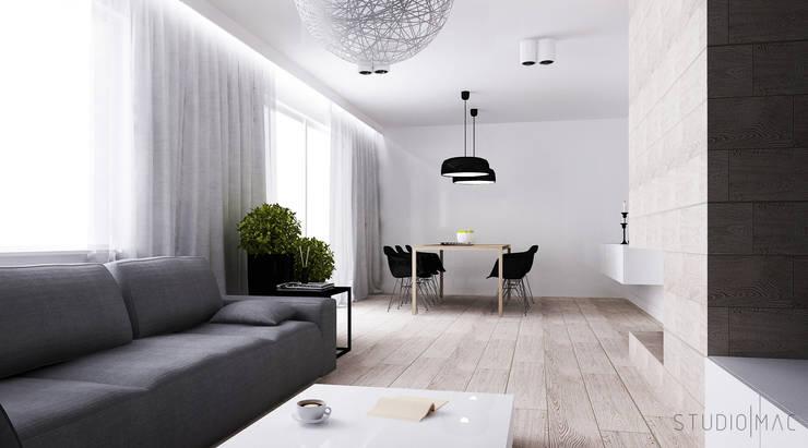 Salon z jadalnią: styl , w kategorii Salon zaprojektowany przez STUDIO MAC