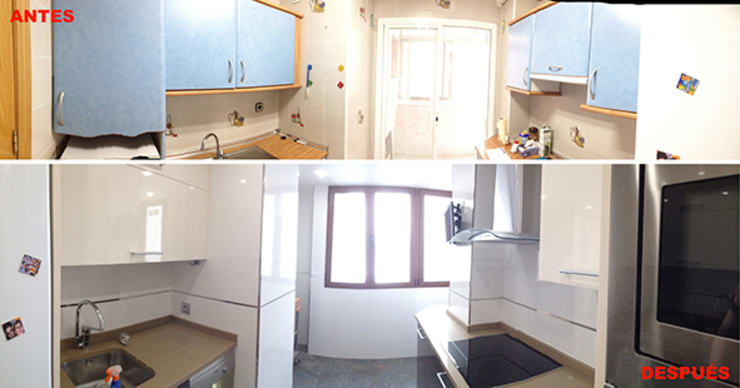Reforma de cocina:  de estilo  de AtelierBas. Arquitectura y Construcción