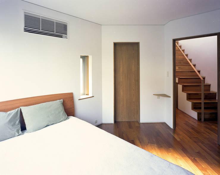 トライアングル・ハウス: 西島正樹/プライム一級建築士事務所 が手掛けた寝室です。