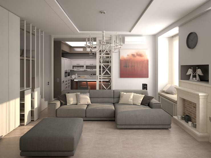 Dubrava: Гостиная в . Автор – Alfia Ilkiv Interior Designer