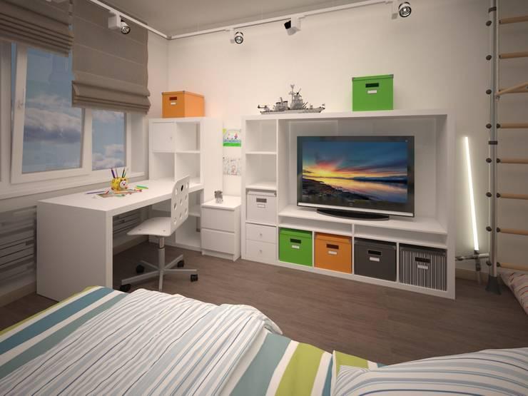 Izumrudniye Kholmy: Детские комнаты в . Автор – Alfia Ilkiv Interior Designer