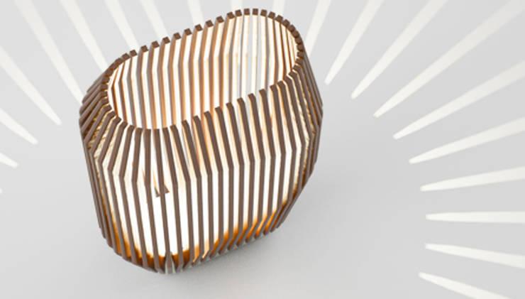Lampe ZOOTROPE: Maison de style  par Sandra Demuth
