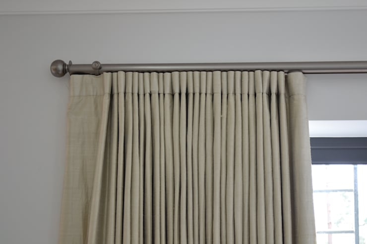 Large Electrically Operated Gunmetal Curtain Pole:  Windows & doors  by International Soft Furnishers