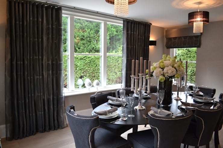 modern Dining room by International Soft Furnishers