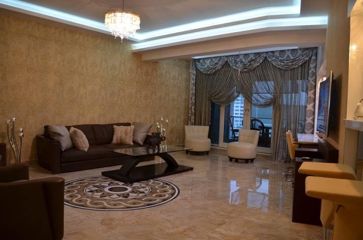 Gizem Kesten Architecture / Mimarlik – NAZARİ FAMİLY HOUSE/İSTANBUL/TURKEY: modern tarz Oturma Odası