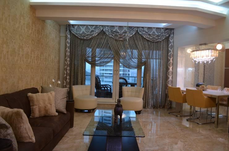 Gizem Kesten Architecture / Mimarlik – NAZARİ FAMİLY HOUSE/İSTANBUL/TURKEY:  tarz Oturma Odası