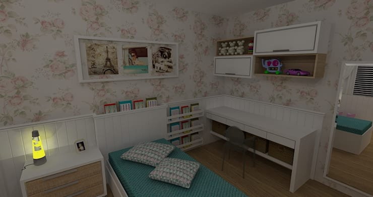 Dormitório Menina: Quarto infantil  por RS Design Studio