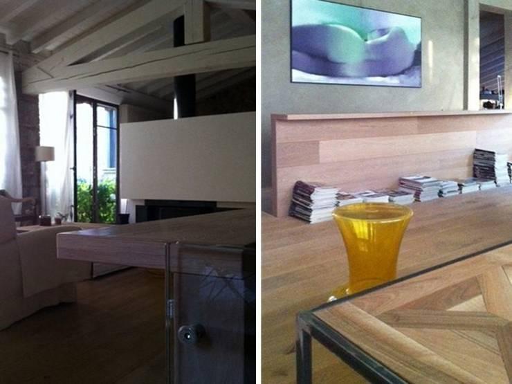 Maison bamboo: Sala multimediale in stile  di Studio Maggiore Architettura