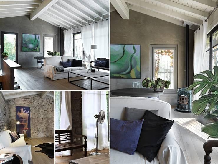Maison bamboo: Soggiorno in stile  di Studio Maggiore Architettura
