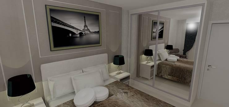 Suíte Casal: Quartos  por RS Design Studio