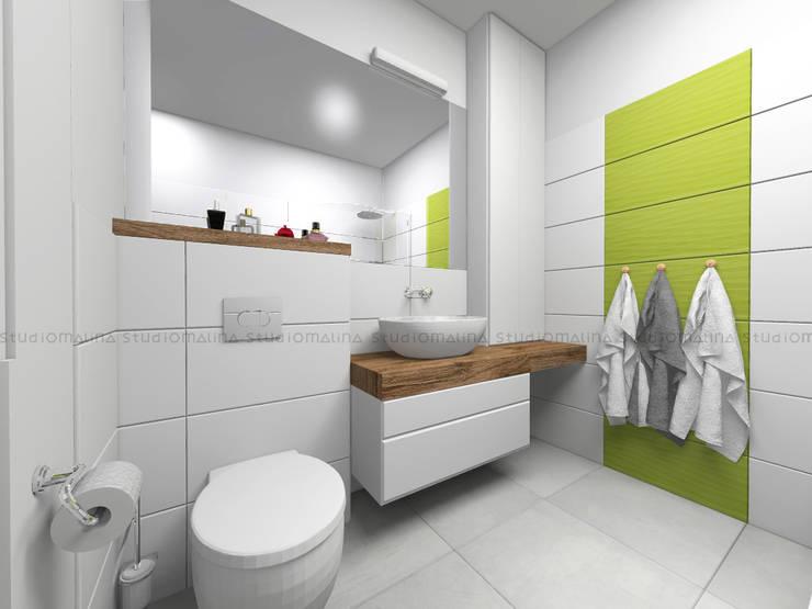 Skandynawska łazienka: styl , w kategorii Łazienka zaprojektowany przez Studio Malina