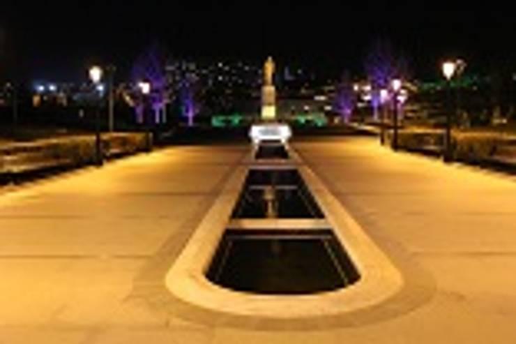 BAYTAŞ LIGHTING PROJECT CONTRACT MANUFACTURING INDUSTRY LTD. INC.CO. – HAYDAR ALİYEV PARKI YENİMAHALLE / ANKARA :  tarz Bahçe, Akdeniz