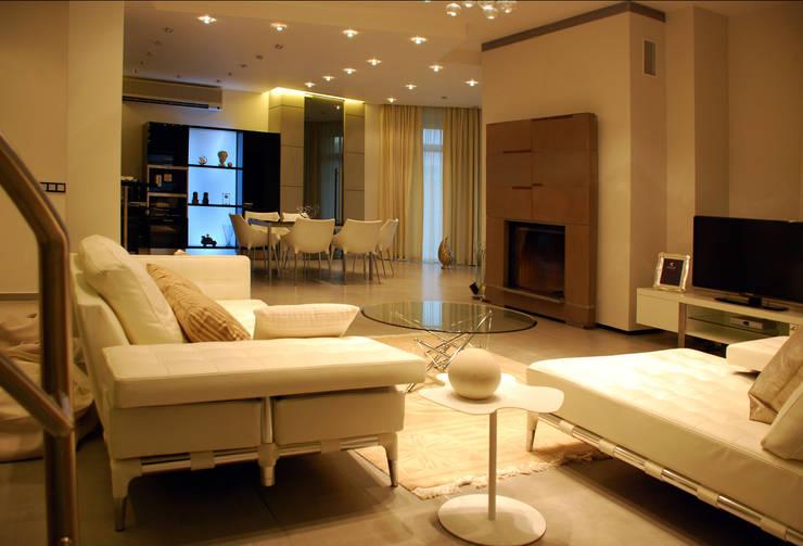 Дом в Ильино: Гостиная в . Автор – Дизайн-студия «ARTof3L»