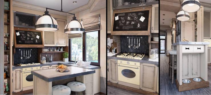 Cocinas de estilo rústico por M-project