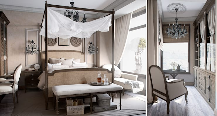 Проект в стиле RH: Спальни в . Автор – M-project