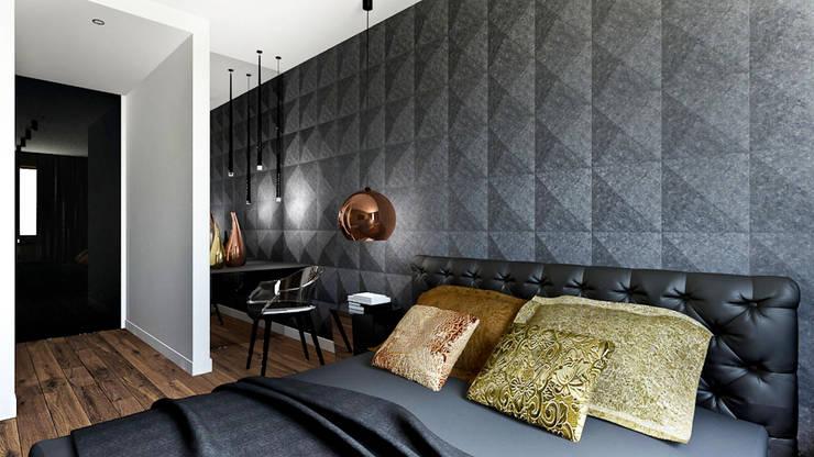 Apartament Wiślane Tarasy : styl , w kategorii Sypialnia zaprojektowany przez MONOstudio