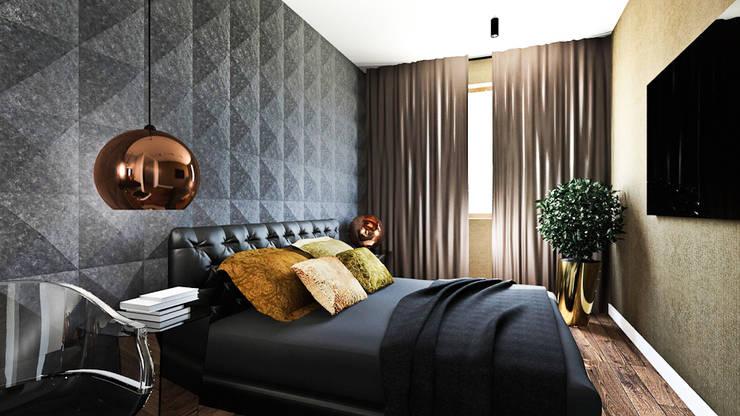 Camera da letto in stile in stile Moderno di MONOstudio