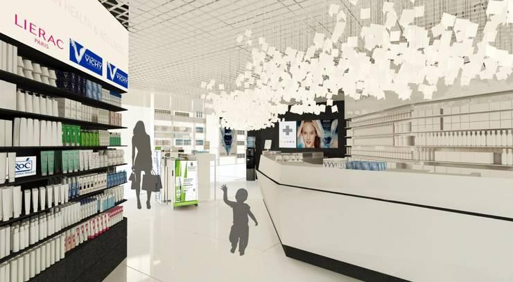 Apteka Rajska w Gdańsku: styl , w kategorii Powierzchnie handlowe zaprojektowany przez BEZ CUKRU studio projektowe,