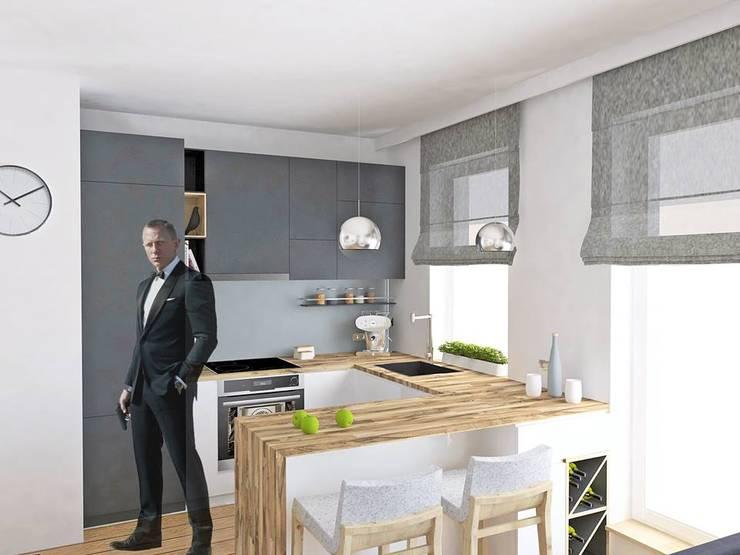 Mieszkanie Młodego Marynarza w Gdyni: styl , w kategorii Kuchnia zaprojektowany przez BEZ CUKRU studio projektowe