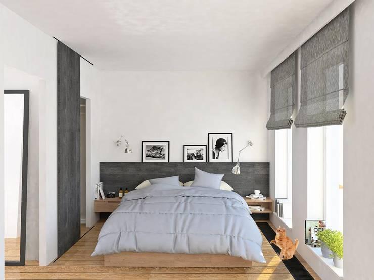 Mieszkanie Młodego Marynarza w Gdyni: styl , w kategorii Sypialnia zaprojektowany przez BEZ CUKRU studio projektowe