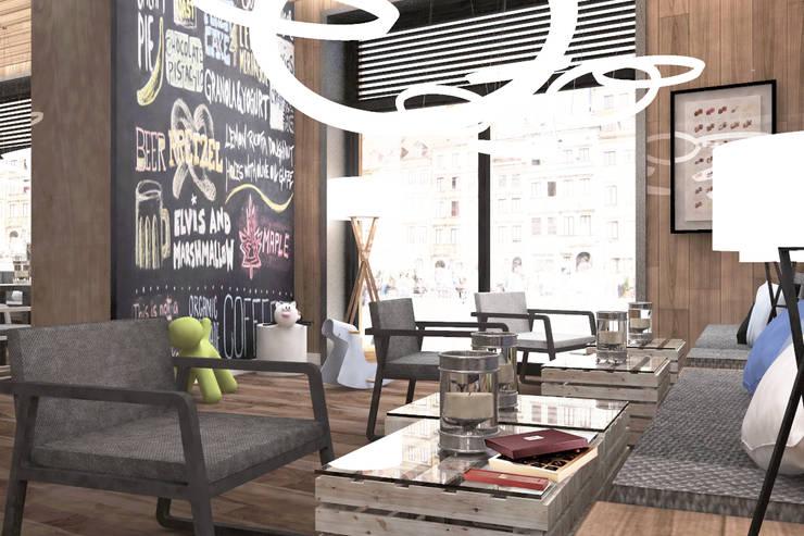 Pijalnia czekolady E. Wedel: styl , w kategorii Gastronomia zaprojektowany przez BEZ CUKRU studio projektowe
