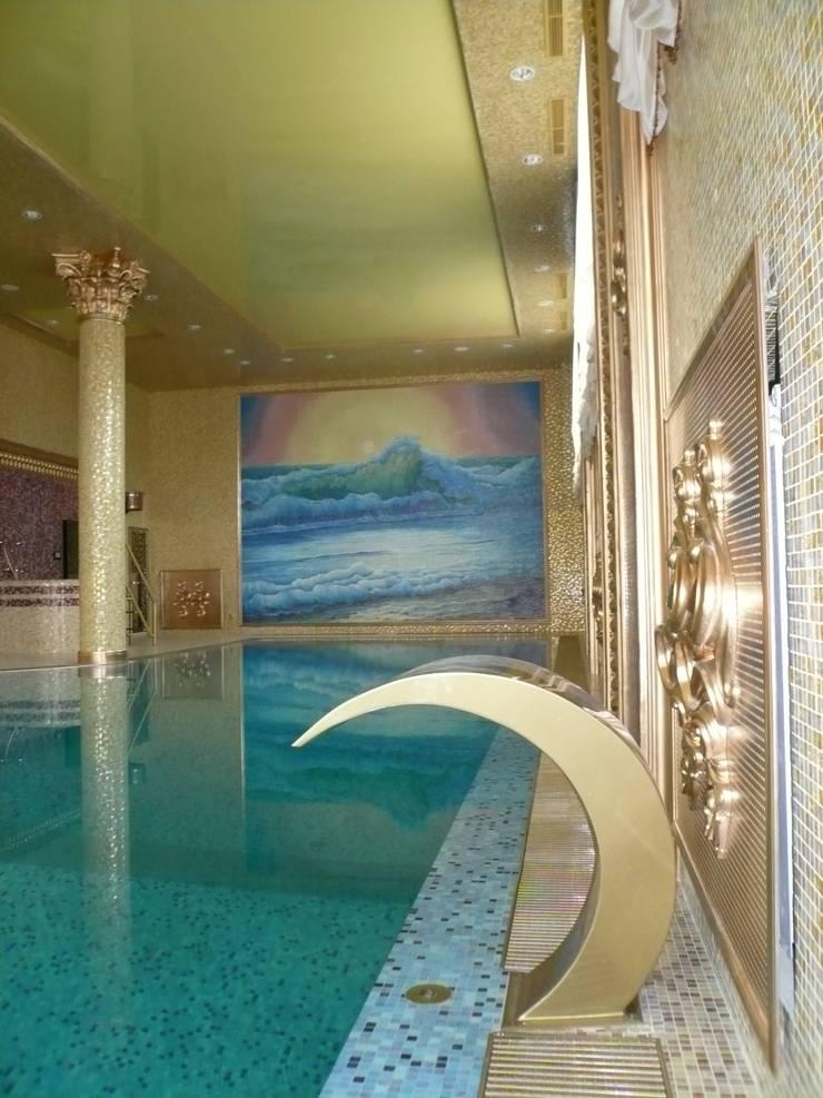 Интерьер бассейна: Бассейн в . Автор – Antica Style