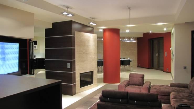 Salon: styl , w kategorii Salon zaprojektowany przez Fabryka Wnętrz ,Nowoczesny