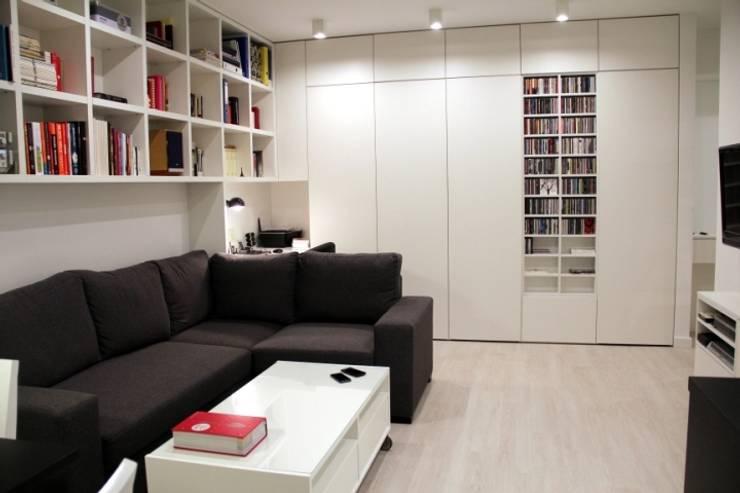 Salon: styl , w kategorii Salon zaprojektowany przez Fabryka Wnętrz ,Skandynawski