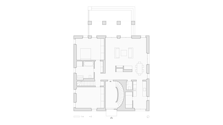 Grundriss Erdgeschoss:   von SHSP Architekten Generalplanungsgesellschaft mbH