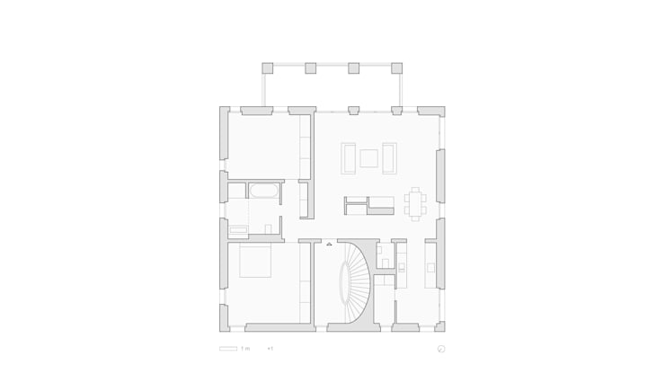 Grundriss Obergeschoss:   von SHSP Architekten Generalplanungsgesellschaft mbH