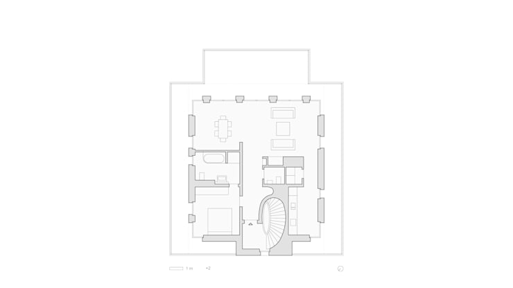Grundriss Staffelgeschoss:   von SHSP Architekten Generalplanungsgesellschaft mbH