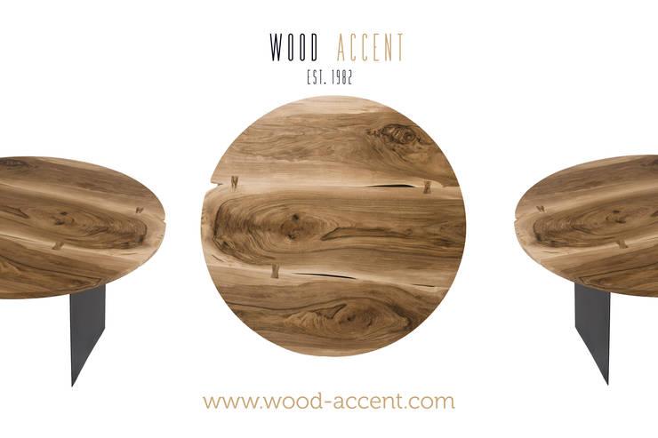 EINZIGARTIGE HANDGEMACHTE TISCHE: styl , w kategorii Jadalnia zaprojektowany przez WOOD ACCENT