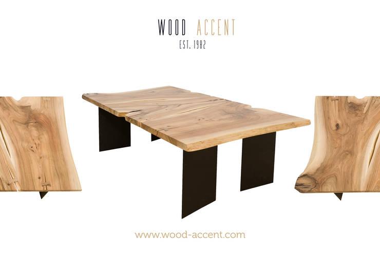 EINZIGARTIGE HANDGEMACHTE TISCHE: styl , w kategorii Salon zaprojektowany przez WOOD ACCENT