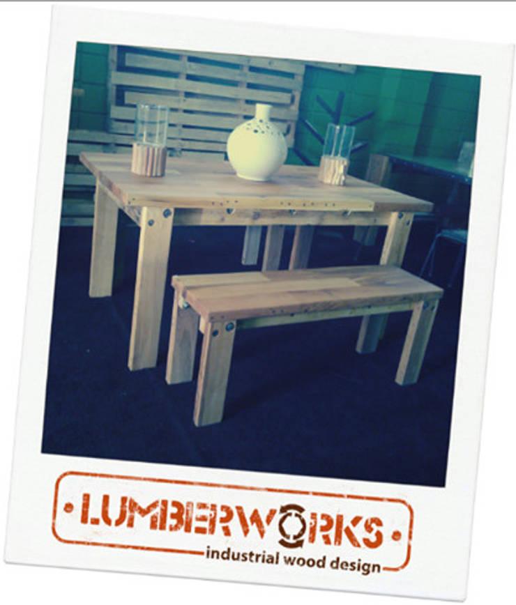 Madera Reutilizada: Hogar de estilo  por Lumberworks