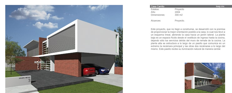 Casa Carrillo Rochin: Casas de estilo  por LEAP Laboratorio en Arquitectura Progresiva