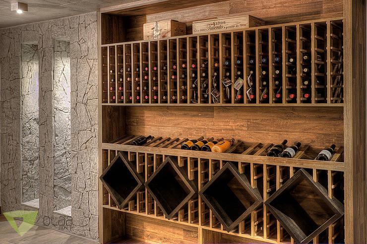 Bodegas de vino de estilo  por Olaa Arquitetos