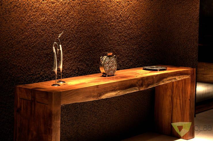 Casa de Campo Quinta do Lago - Tarauata: Sala de estar  por Olaa Arquitetos