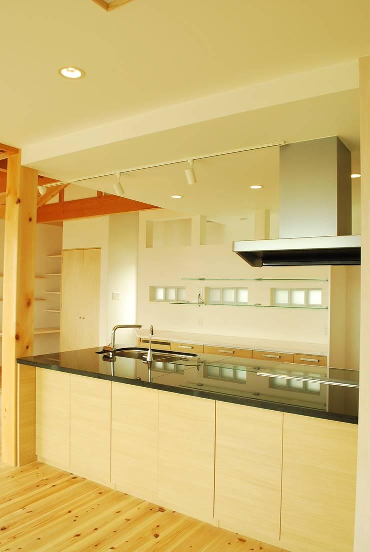 高城の家: 西川真悟建築設計が手掛けたキッチンです。
