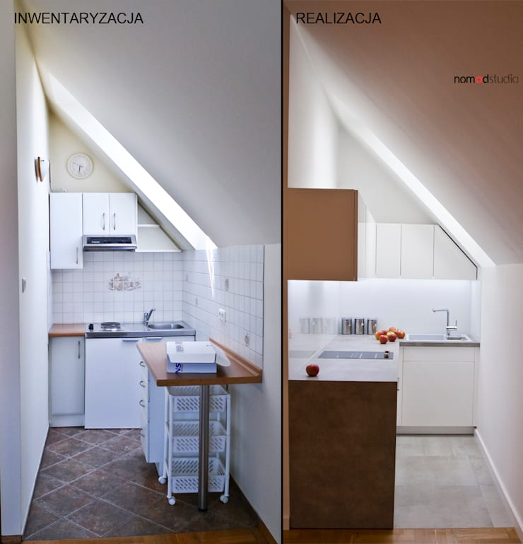 aneks kuchenny: styl , w kategorii Kuchnia zaprojektowany przez nomad studio,Minimalistyczny