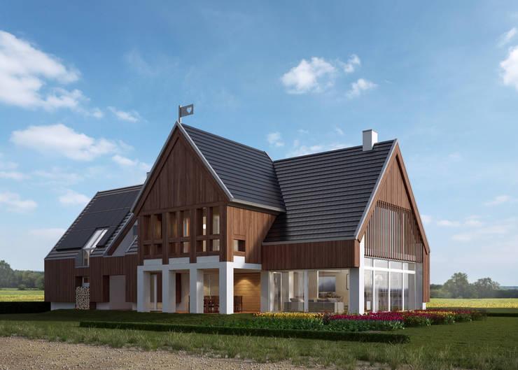 Maisons de style  par LK & Projekt Sp. z o.o.,