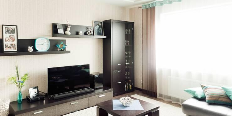 Квартира для молодого человека: Гостиная в . Автор – Center of interior design