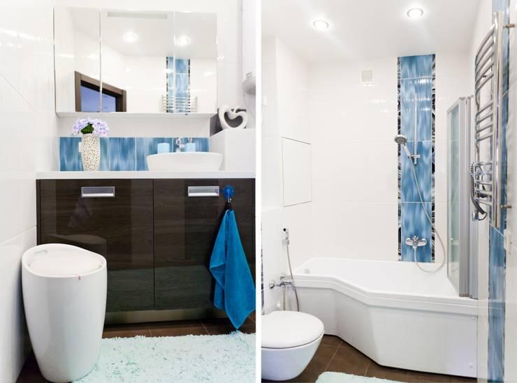 Квартира для молодого человека: Ванные комнаты в . Автор – Center of interior design
