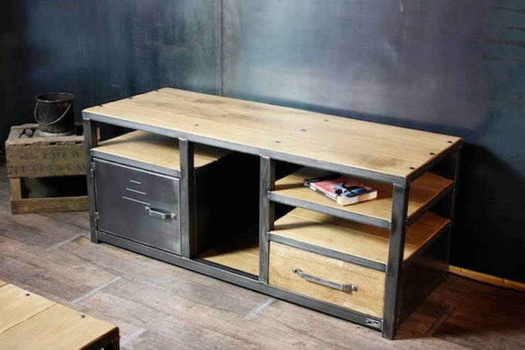 Nos meubles tv de style industriel par micheli design homify - Meuble bois metal industriel ...